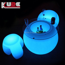 fashional design led night club table/ outdoor bar furniture