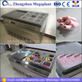Egypt flat pan stir rolled fry ice cream rolling machine price with 9 cooling buckets