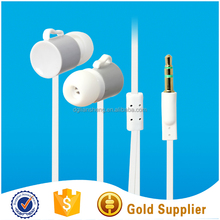 In ear 3.5mm promotion funny earbuds with gold plated standard plug