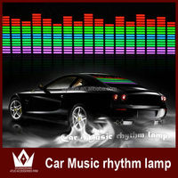 Hot sale 45x11cm Colourful Flash Car Sticker Music Rhythm LED EL Light