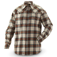 Stylish Flannel Hawaiian Shirt Long Sleeved Plaid Casual Shirt For Men