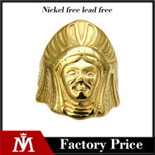 Fancy Hip Hop Jewelry 316 L Stainless Steel Saudi Arabia Design Gold Ring