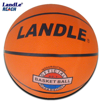 Standard Size basketballs with hand print