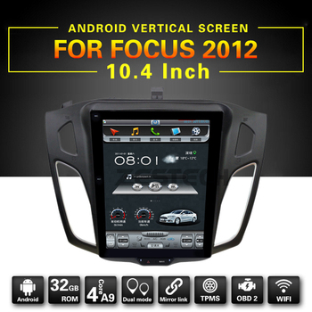 "Android 10.4"" Vertical Screen Android Car DVD GPS Navigation Radio Player for Ford Focus 2012"