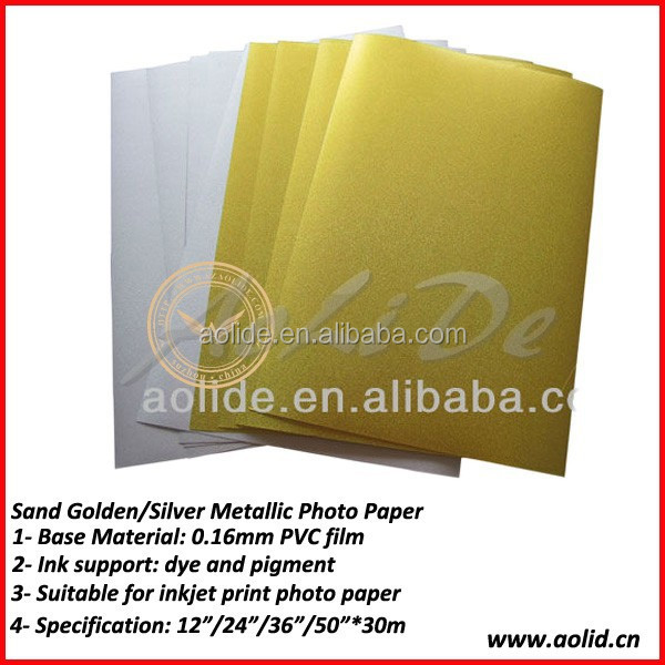 Glossy Golden Inkjet Metallic Photo Paper
