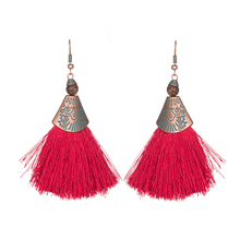 Maya Style Long Tassel Dangle Earrings Jewellery for Young Girls