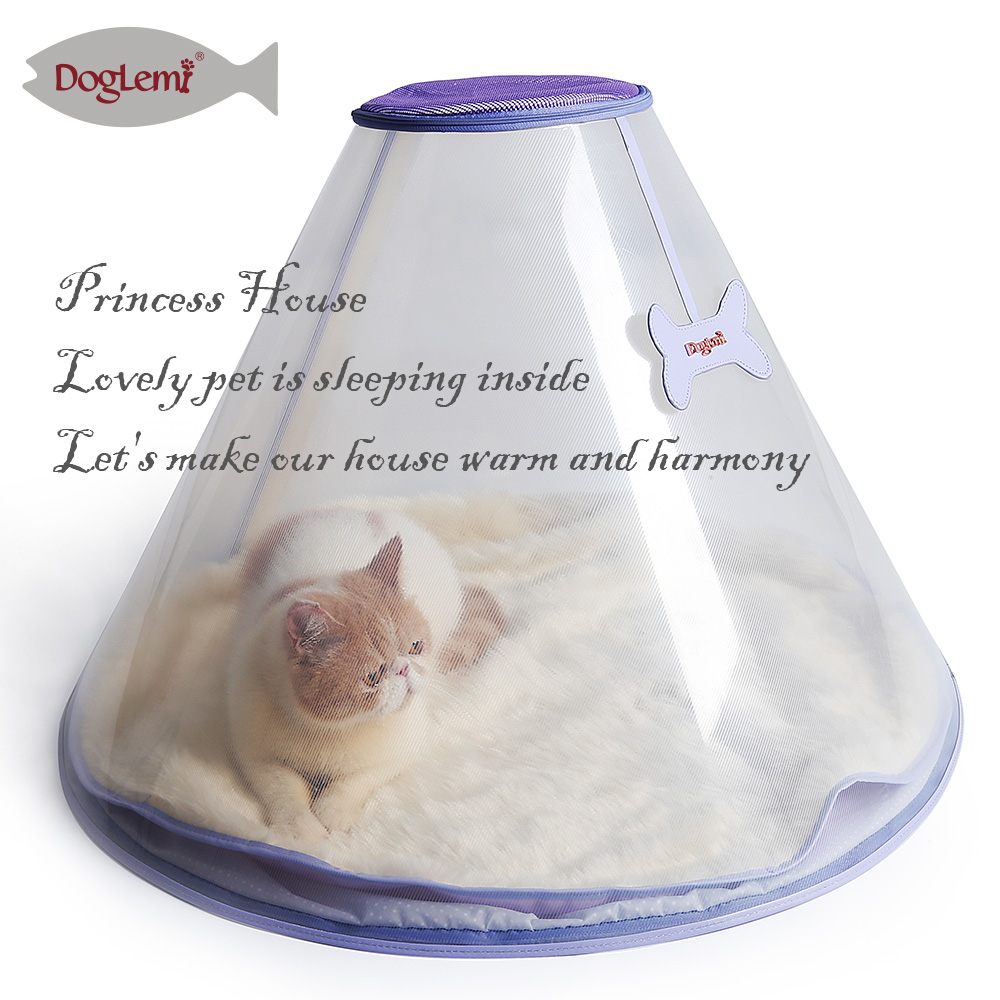 Transparent Pet Dog Cat Bed House with Removable Cushion Pet Dog Tent