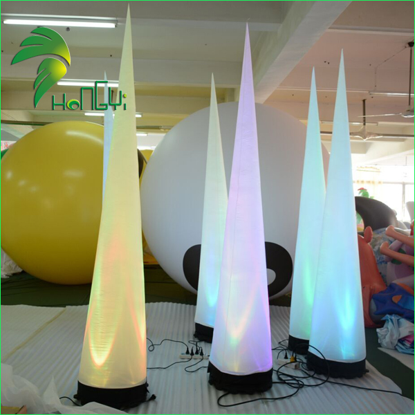 Cheap inflatable cone models with led lights for event decoration