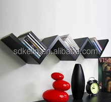 V shaped wall shelves CD rack decorate