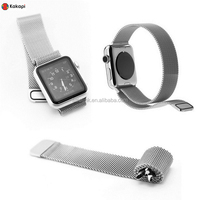 1:1 Original Design Magnetic Milanese Loop Watch Band For Apple Watch iWatch Strap Metal Woven Stainless Steel Mesh + Connector