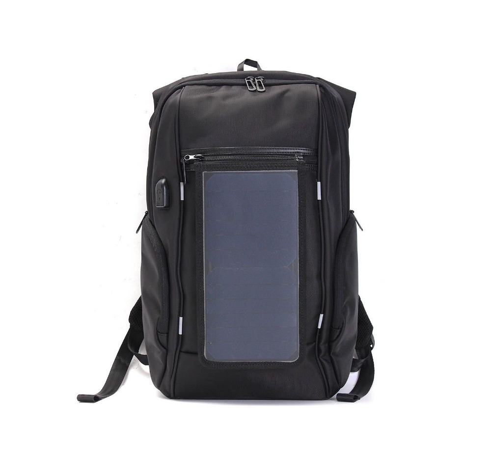 15.6 Inch Travel Solar Panel Backpack with USB Charger Waterproof Laptop backpack