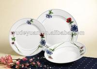 round 18pcs porcelain dinner set