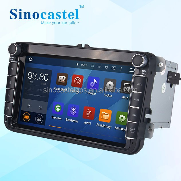 Pure Android 5.1.1 Quad Core 1.6 GHz Multi-Touch Screen Car DVD Player for VW Passat Jetta Polo