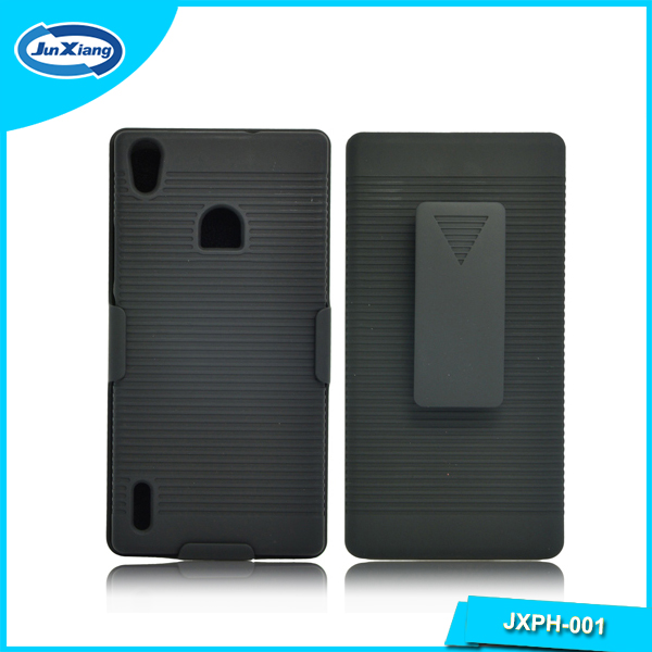 Shell Holster Combo Smart Cell Shell Cover for Huawei Ascend P7
