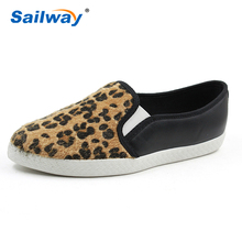Fashion Women Leopard Design Pu Flat casual Shoes