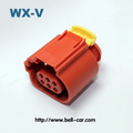 6 Pin PA66-GF25 Automotive Wire And Cable Terminal Connector Female Adaptor Plug In Stock 284716-3