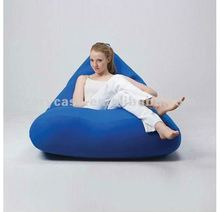 blue single fashion modern wholesale beanbag sitting chair , cover only