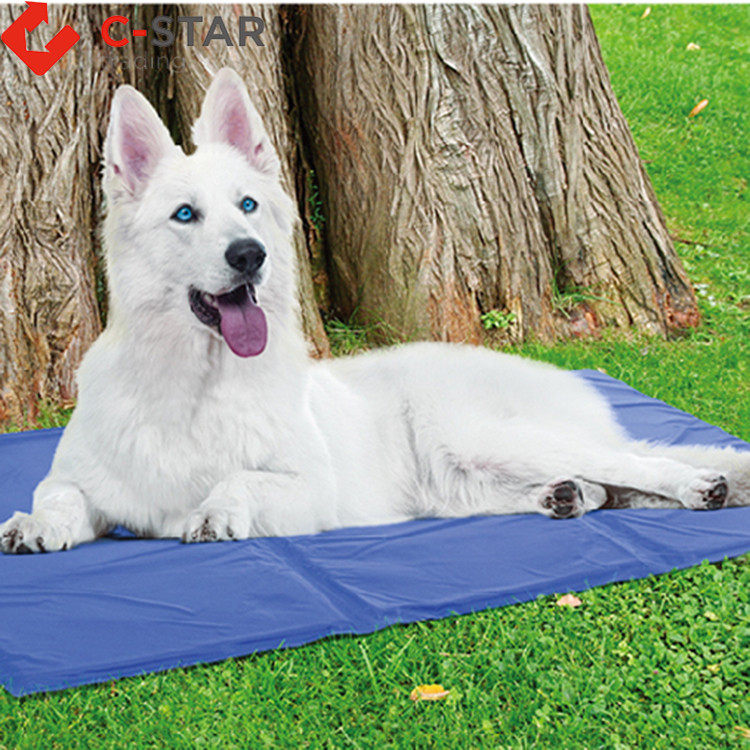 Promotional various durable using waterproof pvc pet bowl mat and pet feeding padpet cooling mat for large dog