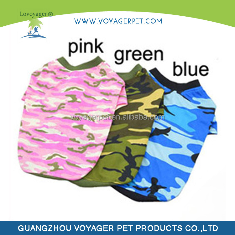 Lovoyager new style summer camo cotton wholesale dog clothes military dog clothes