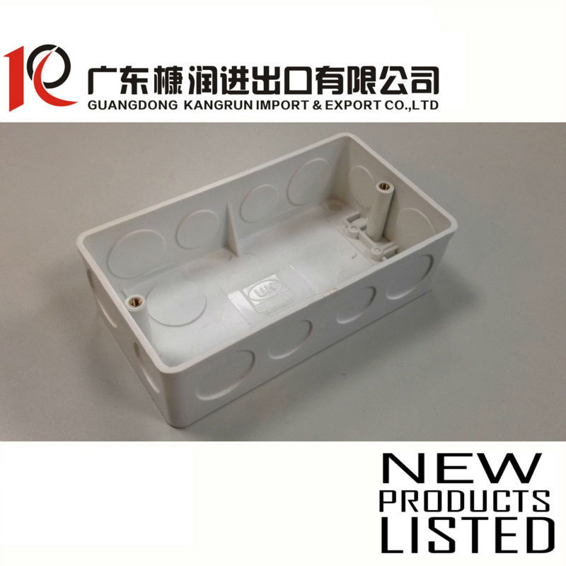 3x6 electrical pvc junction box 136x72x36mm T:2.5mm