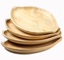 Creative home bamboo disc melon seeds dessert plate leaves fruit wood tray bamboo basket
