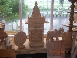 Super White Marble Mandir For Home Marble Indoor Temple Pink Sandstone Carved Temple