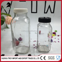 8oz 16oz customize design glass beverage bottle/drinking bottle with CE certificate