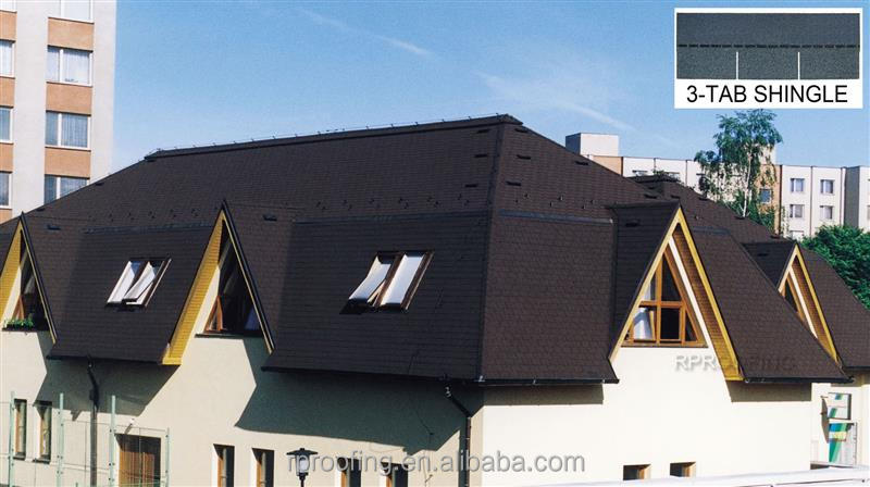Professional 3-tab asphalt shingle roof tile,shingle asphalt roof made in China