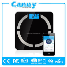 Bluetooth Bathroom Scale 180kg Body Fat Scale BMI/BMR Function
