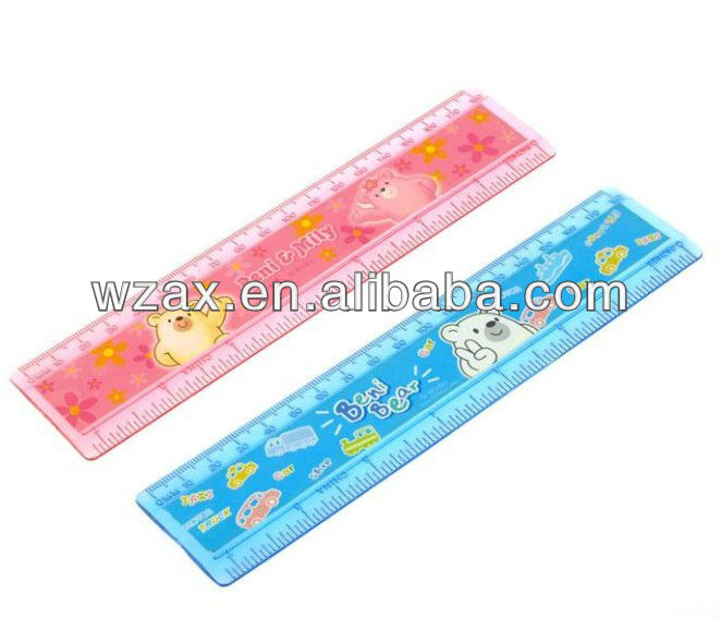 ABS clear transparent double side plastic ruler