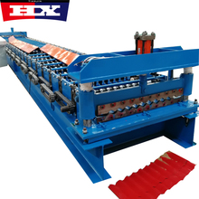 Steel corrugated roof panel cold roll forming machine
