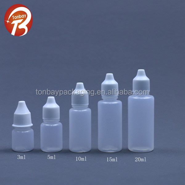 3ml 5ml 10ml 15ml 20ml pe plastic eye drop bottle, e cig liquid bottle