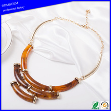 Fashion Design Charm Pretty Women Layered Handmade Statement Chunky Choker Bib Collar Necklace Jewelry