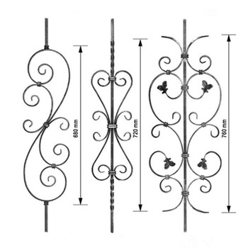 Decorative Ornamental Metal Wrought Iron Railing Parts
