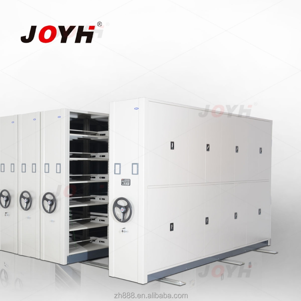 Movable metal filing cabinet space saving equipment for warehouse