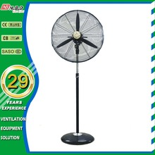 CE approved High Air Delivery Industrial Stand Fan with 3 Aluminum Blades