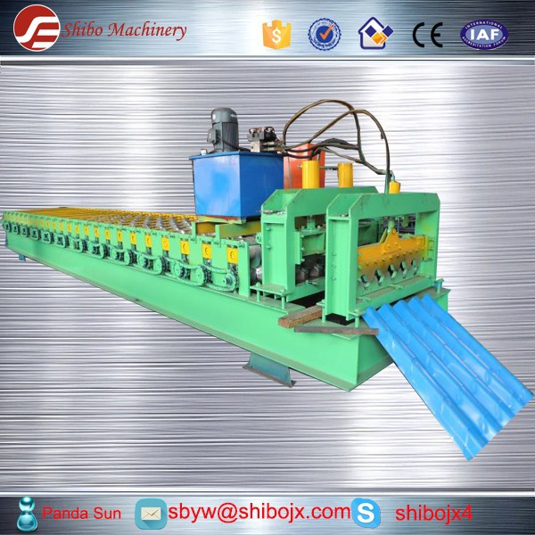 Euro Standard Cheap Prices Galvanized Steel Roof Tile Roll Forming Machine