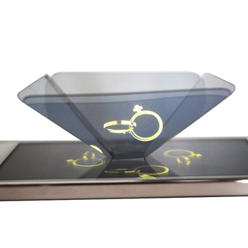 Pyramid 3D holographic projector Reflective 3d hologram projector for Smartphone