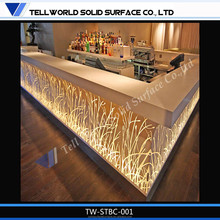 2015 Hot Sale Acrylic Solid Surface Night Club Led Bar Counter,Smoothie Bar Counter,Sushi Bar
