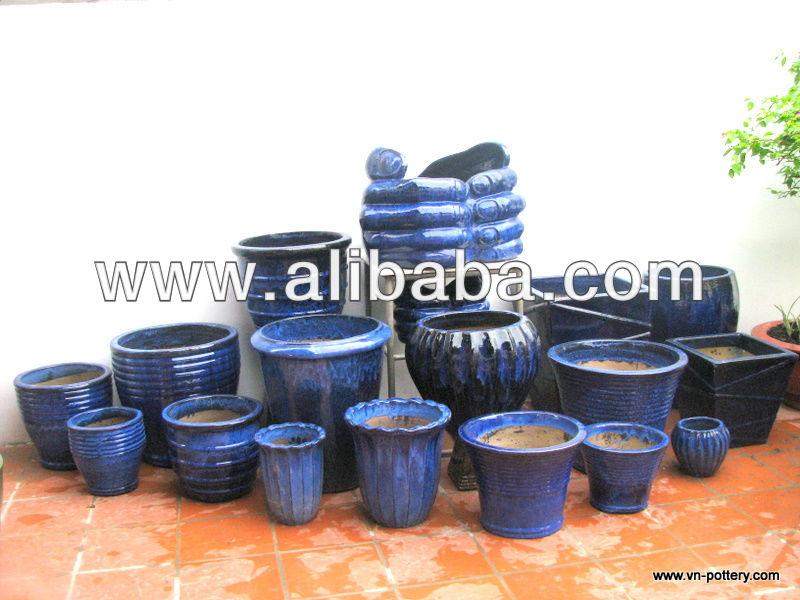 Esterno vasi di fiori smaltato fioriere casa giardino - Vasi ceramica esterno ...