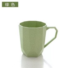 Unique Shapes Bulk Plastic Cups Blank Coffee Mugs Biodegradable Wheat Travel Tumbler