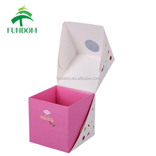 printed square cube creative new shape innovative cute fancy beautiful lovely paper small cardboard boxes for sweets