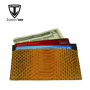 Custom Color Genuine Snakeskin Money Clip Credit Card Wallet Rfid Holder