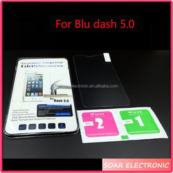 Clear Tempered glass screen protector for blu studio dash 5.0