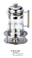 Stainless Steel & Glass Teapot Warmer With Stand