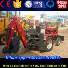 tractor with backhoe and front loader for sale from China supplie