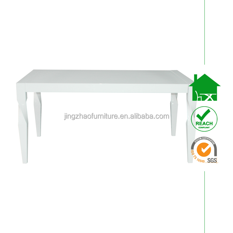 DT-2089 Modern New Design White High Glossy Wooden Dining table