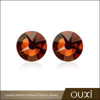OUXI 2016 Top quality wholesale price Colored AAA zircon bead cheap stud earrings for women 26032