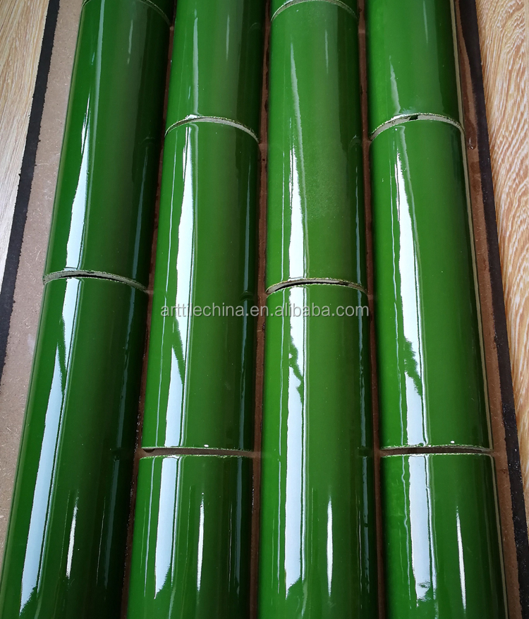 Green Color Curved Surface Bamboo Ceramic Tile Buy Ceramic Tile
