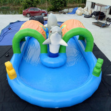Dolphin Design Inflatable Water Games Inflatable Swimming Pool For Kids